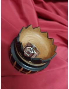 Anello in argento esagonale