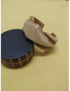 Bracciale rigido in legno