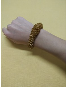 Bracciale perline color oro