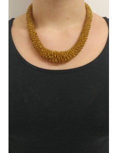 Collana perline color oro