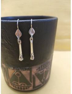 Orecchini pendenti in argento - zoccolo di cammello