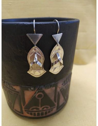 Orecchini pendenti in argento a forma di ciabattine infradito