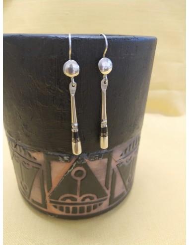 Orecchini pendenti in argento e smalto