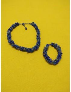 Collana e Bracciale azzurro/blu