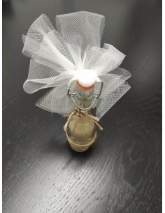 Bottiglietta cm14 con fiorellino