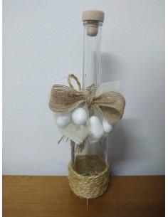 Bottiglia cm24 con decorazioni in juta