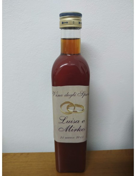 Bottiglia vino degli sposi