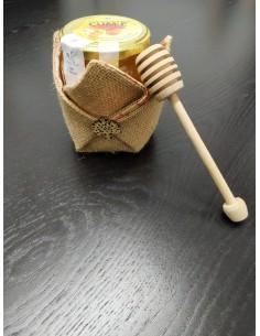 Porta miele con albero e miele 500gr